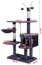 Dimensions Arbre à chat solide Songmics PCT35G